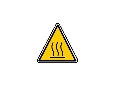 Hot Surface Danger Luca R Symbol