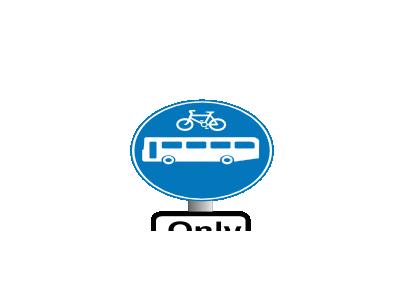 Buses And Bikes Symbol