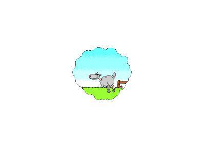 Logo Animals Sheep 001 Animated