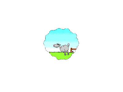 Logo Animals Sheep 005 Animated
